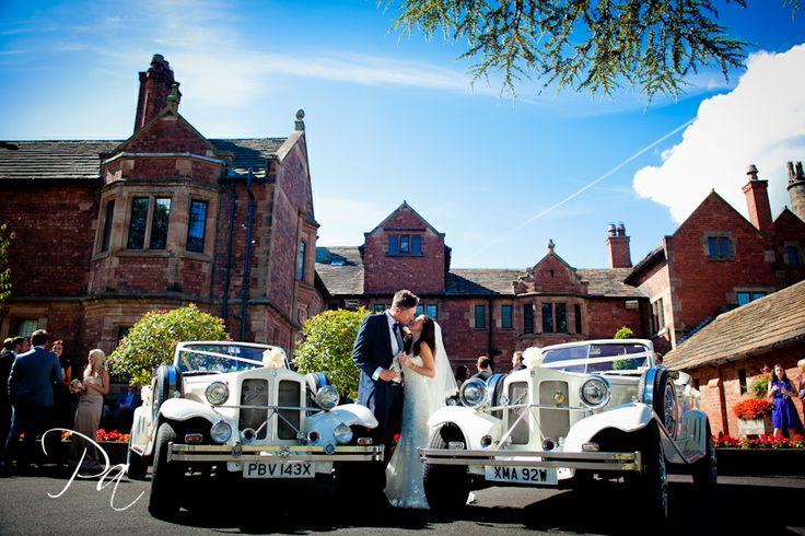Colshaw Hall wedding photographer 42 Colshaw Hall wedding of Natalie and David - wedding cars at Colshaw Hall