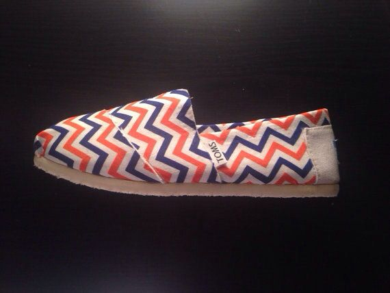 Broncos Chevron Toms Women by ClarkCouturecom on Etsy