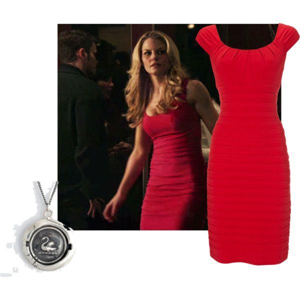 Emma Swan Red Dress, created by missmerfaery on Polyvore