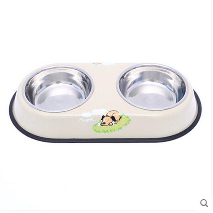 Dog Food Bowl Pet Feeder Food Dispenser Bebedouro Para Cachorro Acero Cachorro Hamster Water Bottle Stainless Steel Bowls BBMZ87