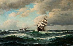 Haaland, Lauritz - Gammel og ny tid møtes, 1901 / Jule- auksjon 2011…