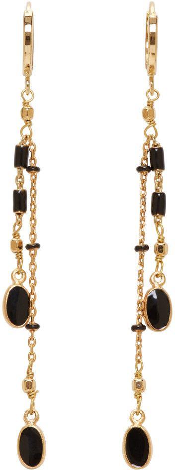 Isabel Marant - Gold & Black Chain Earrings