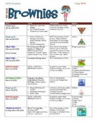 25 best ideas about brownie girl scouts on pinterest for Girl scout calendar template
