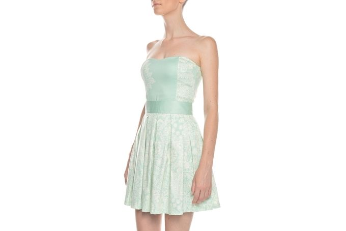 Christiana bustier mint filigree by Georgie.B