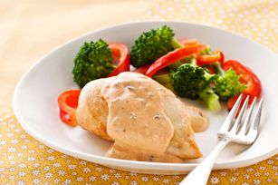 Chicken with Creamy Tomato Basil Sauce recipe
