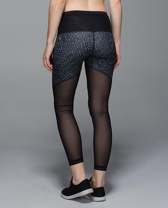 5da146275d8ba LULULEMON High Waisted Just Breathe Pant Grey Black Mesh Luxtreme Leggings  8 #Lululemon #PantsTightsLeggings