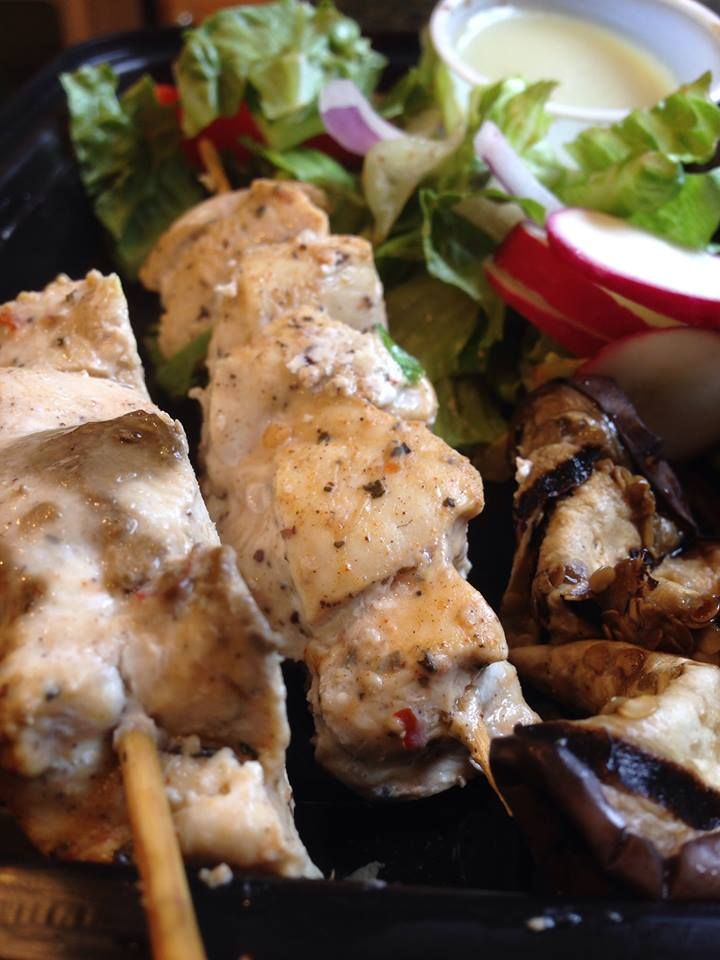 Chicken Souvlaki Salad | EATS: Come On Over, Y'all! | Pinterest