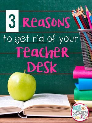 3 Reasons to get rid or your teacher desk and how you can keep your classroom organized without the desk.