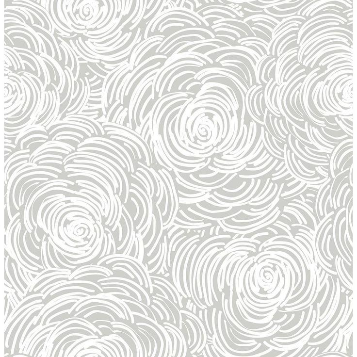 A-Street Celestial Grey Floral Wallpaper