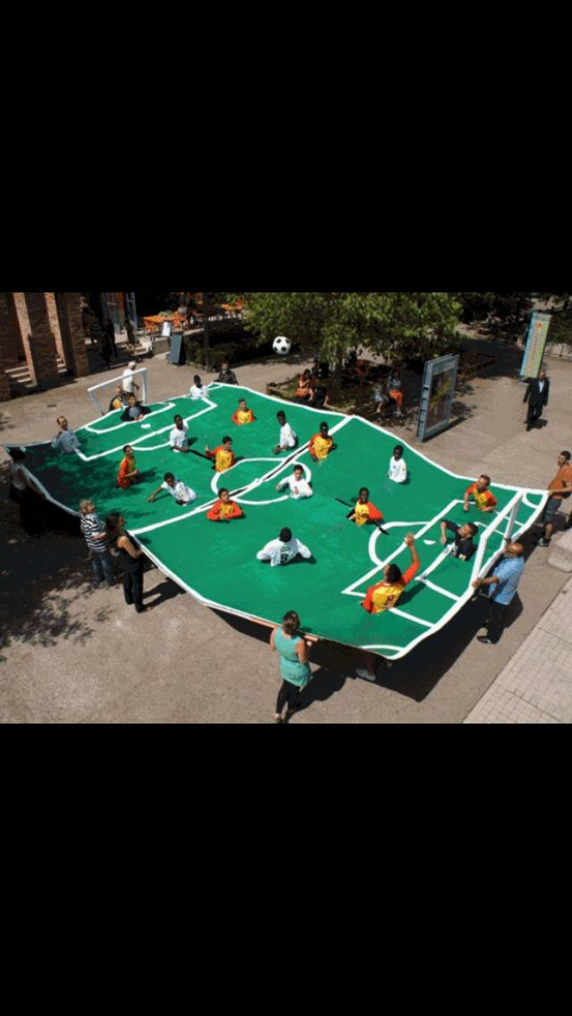 Human foosball..why is this not everywhere?