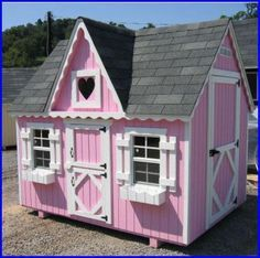 9 DIY Kids' Playhouses We Love: Victorian Playhouse Kit by Little Cottage