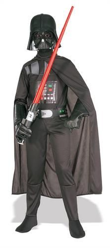Darth-Vader-Boy-039-s-Star-Wars-Halloween-Fancy-Dress-Kids-Costume-Child-Outfit