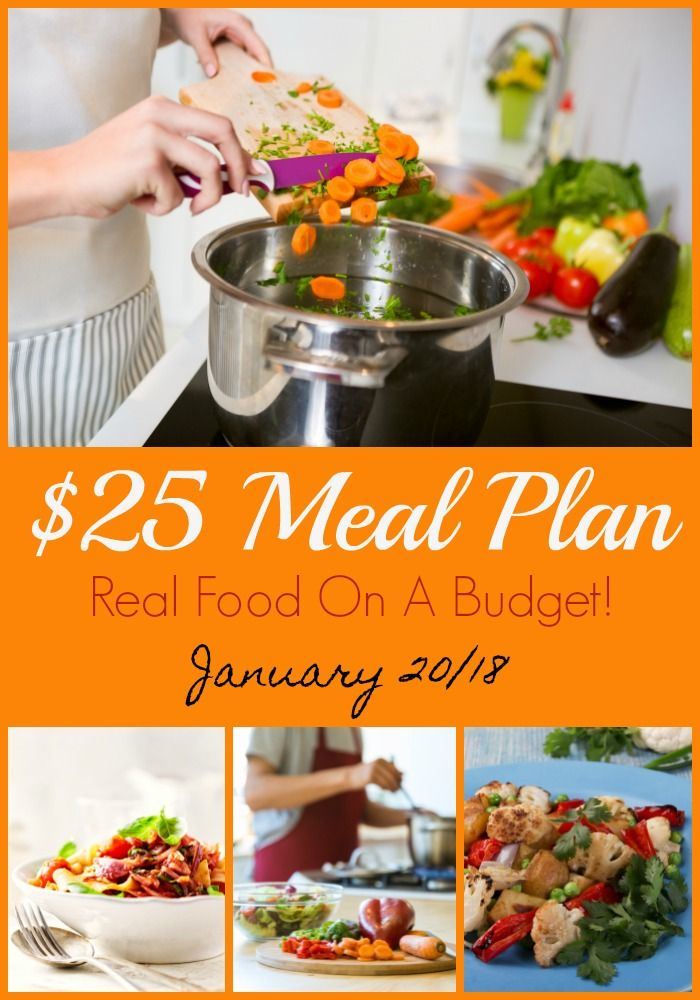 Meal plan for 5 supper meals to feed 4 people...only $25