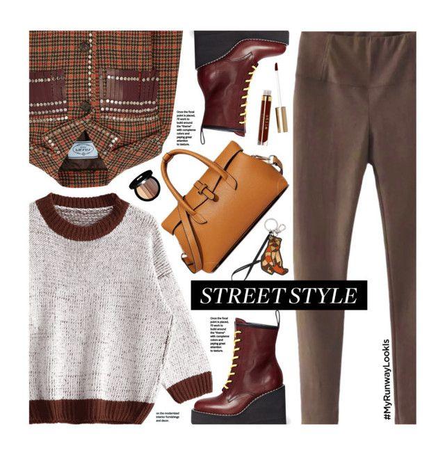 What's YOUR Runway Look? by beebeely-look on Polyvore featuring Prada, Sacai, Etro, Edward Bess, Stila, StreetStyle, NYFW, streetwear, zaful and MyRunwayLookIs