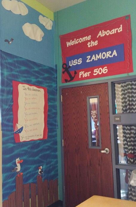 Nautical themed classroom