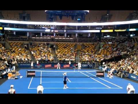 Great point between Andre Agassi and Jim Courier during the Champions Series Final 2011 #Boston