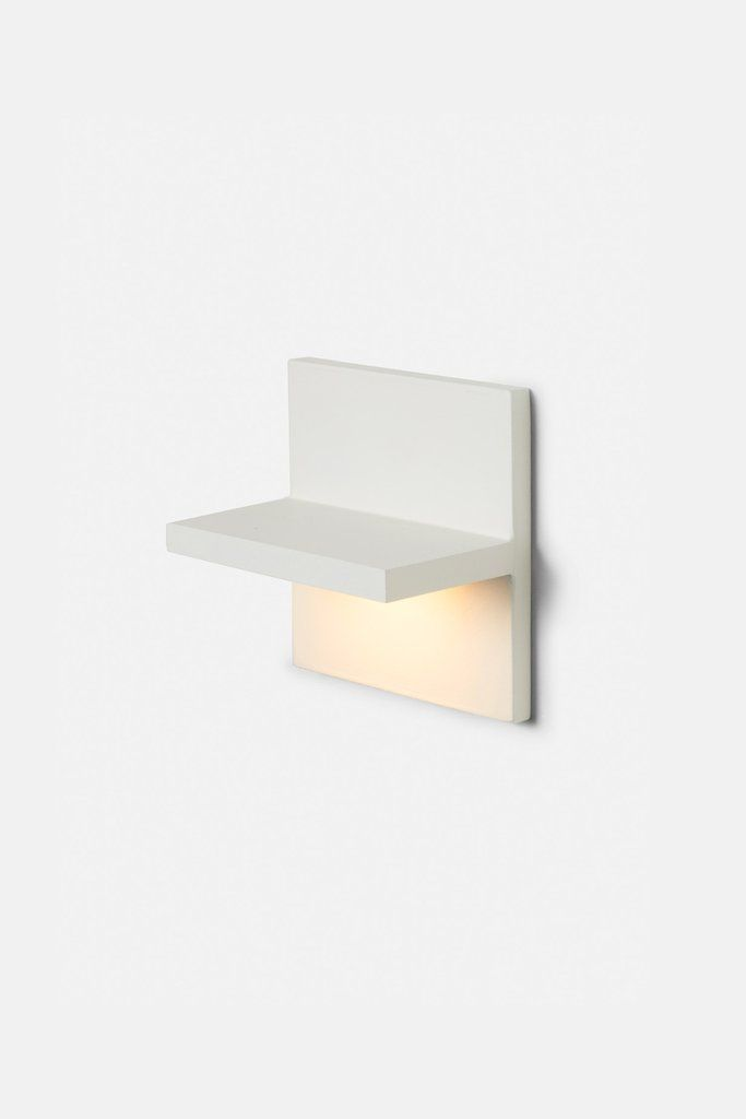 Ledge Square white wall sconce, by Rich Brilliant Willing