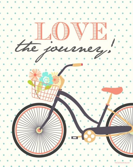 Love the Journey (quote from Pres. Uchtdorf) Free Printables. Four colors to choose from at the36thavenue.com