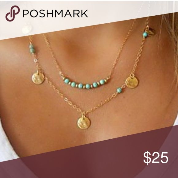 S A L E /// $16 /// Mid Length Bohemian Necklace Stunning mid-length necklace. Perfect as a gift, or to keep for yourself. (I wouldn't blame you.)   Specifications: * Material: Gold Alloy * Style: Bohemian, Dainty * Color: Gold  Add a necklace gift box to your purchase for $3  Jewelry Necklaces