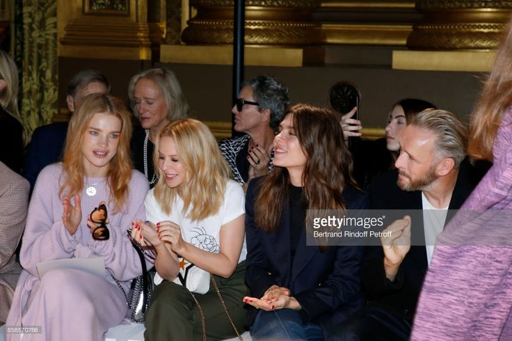 Natalia Vodianova, Kylie Minogue, Charlotte Casiraghi and husband of Stella, Alasdhair Willis attend the Stella McCartney show as part of the Paris Fashion Week Womenswear Spring/Summer 2018 on October 2, 2017 in Paris, France.