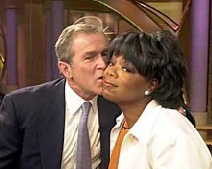 Back in the presidential race for 2000 George Bush was trailing Al Gore by ten points. Then on September 19, 2000, Mr. Bush made an appearance on Oprah Winfrey's television show. Mr. Bush talked about how he quit drinking and how he has a love of family and for his daughters. He talked about everything that the viewers of Oprah love. He sold himself. After the show aired, and without Ms. Winfrey actually endorsing his campaign, managed to revive his languishing bid for the presidency.