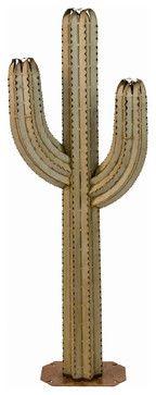 Desert Steel Saguaro Cactus Torch traditional-tiki-torches