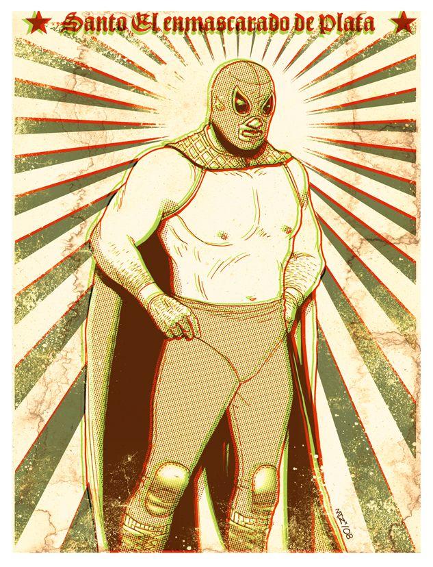 Santo El enmascarado de Plata by fito-mtz.deviantart.com on @deviantART