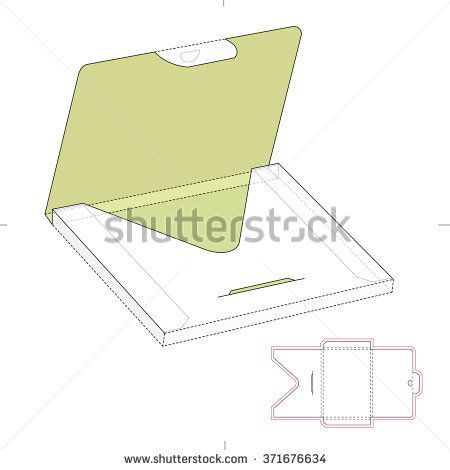 Thick Envelope Package with Die Cut Template