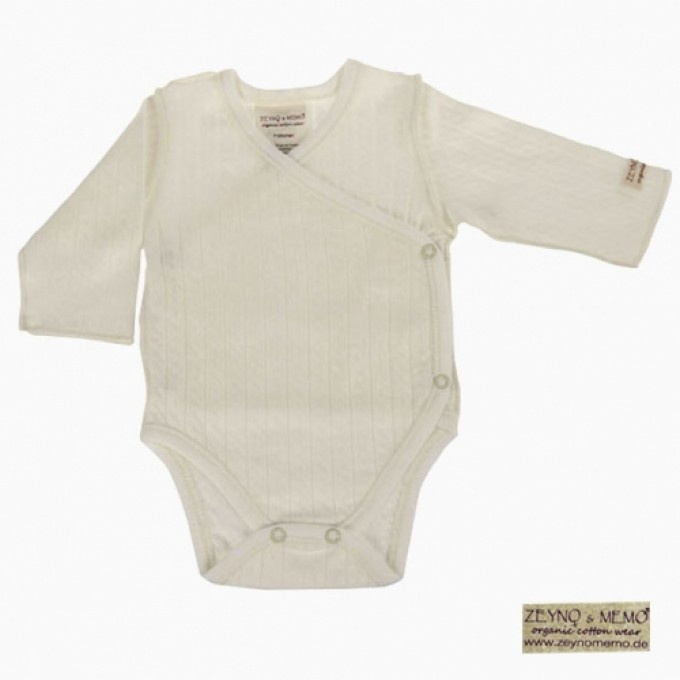 Prematüre bebek için uzun kollu zıbın body