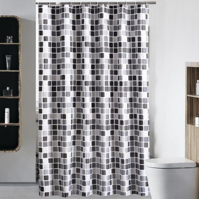 Factory Direct Bathroom Mosaic Shower Curtain Home Thick