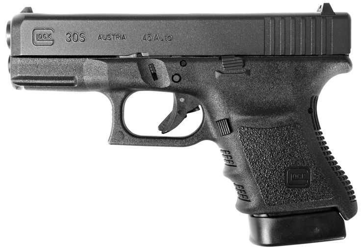 The new Glock 30S carries 10 rounds of .45 ACP and is perfect for concealed carry...