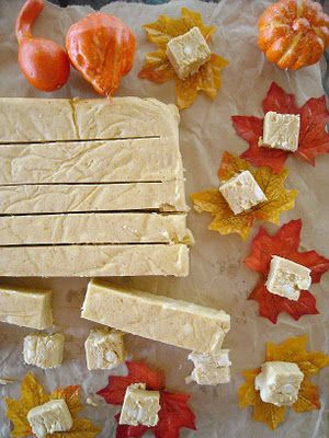 Witte Chocolade Pompoen Fudge