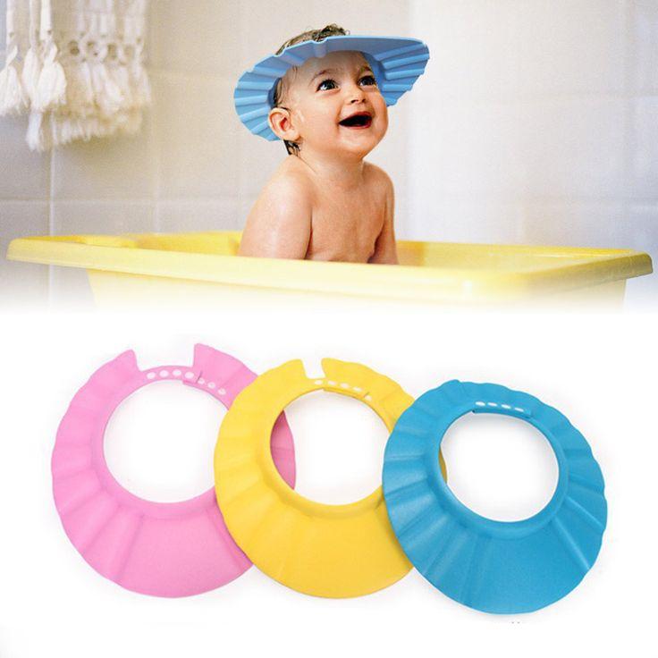 Herramienta de baño Accesorios de Baño Del Bebé Gorro de Ducha Champú Seguro Proteger Cap Soft Hat Para Bebés y Niños Niños Gorro de ducha Tonsee