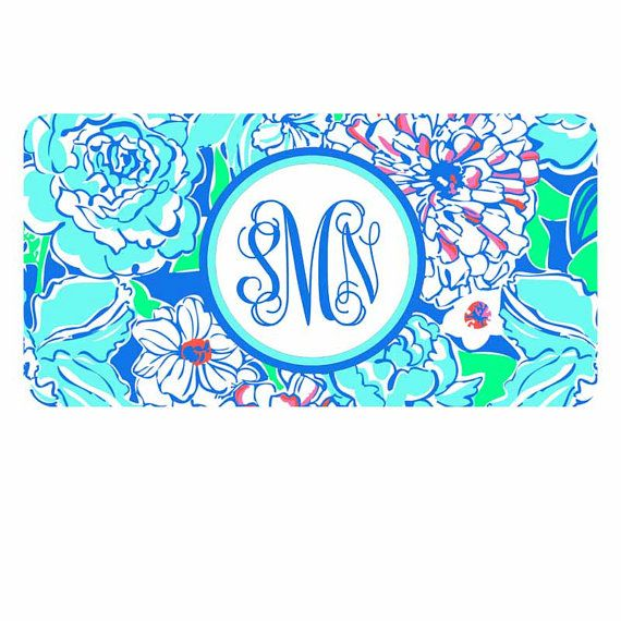 Lily Pulitzer Inspired License Plate-Monogram Personlized Car Tag Lily Logo Front License Plate Flower Personalized Plate
