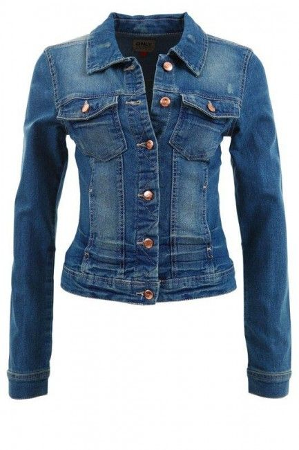 Only Geaca de Blugi Dama Only Albastra Westa Denim Jacket