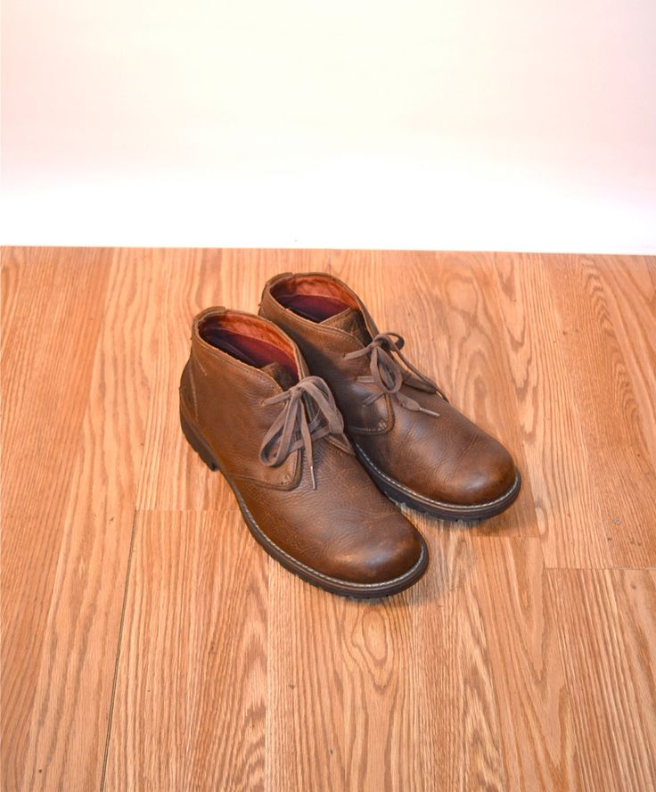 Us 12 Uk 11 Eu 45 brown chukka boots ankle boots hipster portland // CLARKS // fauxy furr vintage cb9-12150216JE by FauxyFurrVintage on Etsy