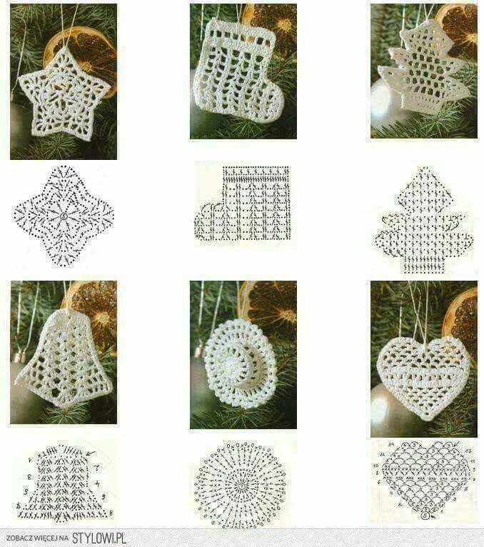 Best +1000 Crochet Christmas images on Pinterest | Artesanías de ...