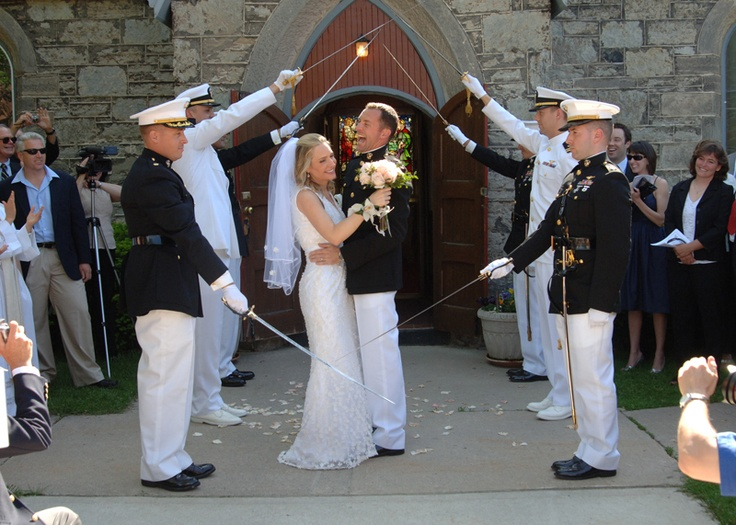 Links To A Blog With Great Ideas For A Wedding When You Have Marines In  Uniform