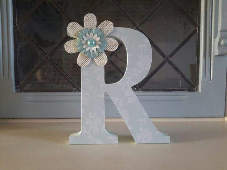 15cm mdf letter R - £3.50 plus p&p