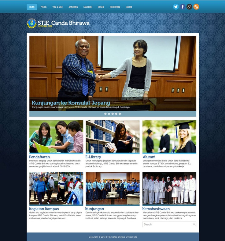 New layout design: STIE Canda Bhirawa official site (2013).