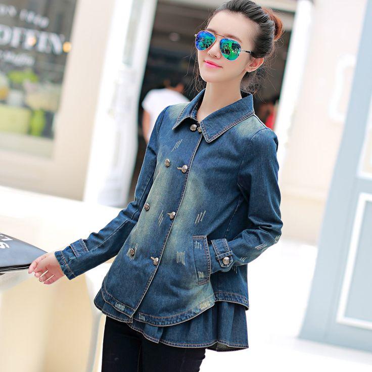 2015 подпружиненный новые корейские женщины носят малых лацкане длинный рукав джинсовая пальто длиной бафф Пальто женские бума из категории Женские летние куртки: цена, фото, отзывы, доставка – купить в интернет-магазине Купинатао
