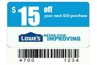 $15 Off $50 Lowes Coupon Generator