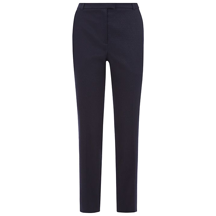 Buy Fenn Wright Manson Nieve Jacquard Trousers, Navy, 8 Online at johnlewis.com