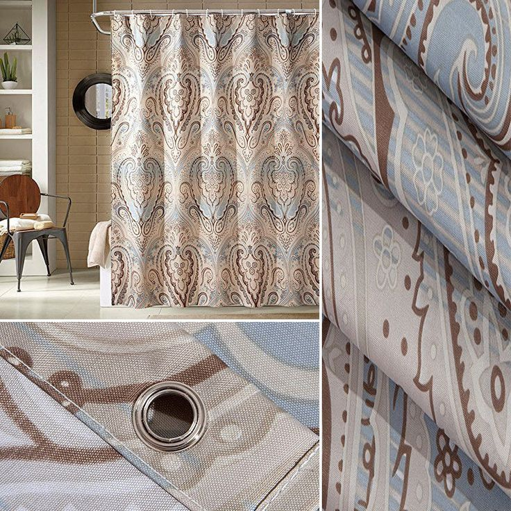 "Shower Curtain Set Liner Extra long 72""x72"" Waterproof Polyester Fabric Luxury #Popeven #Colonial"