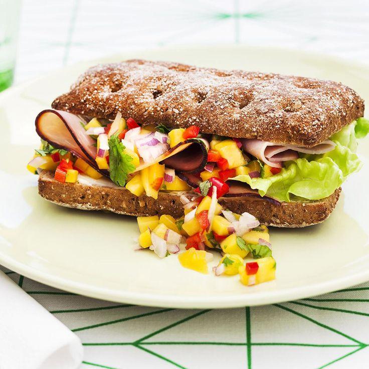 Sandwich med mangosalsa