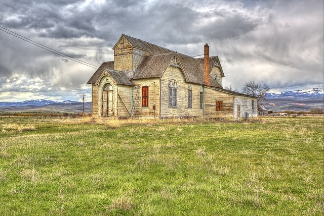 An abandoned LDS church in Montpolier, Idaho.  So very beautiful and unique. I would love to know the history behind it.
