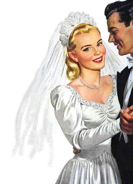 Illustrated Bride and Groom