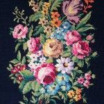 Tapestry needlepoint collection – vintage and antique hand-stitched complete works
