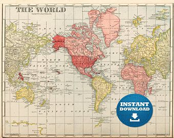 The 25 best world map printable ideas on pinterest geography digital old world map hight printable download vintage world map large world map gumiabroncs Image collections