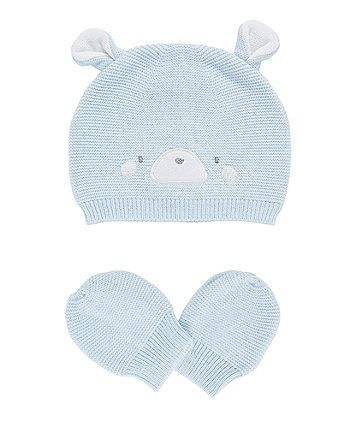 765178004 Order a my first knitted bear hat and mitts today from Mothercare ...